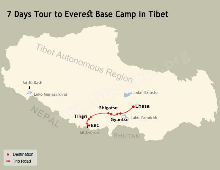 7 Days Tour to Everest Base Camp in Tibet