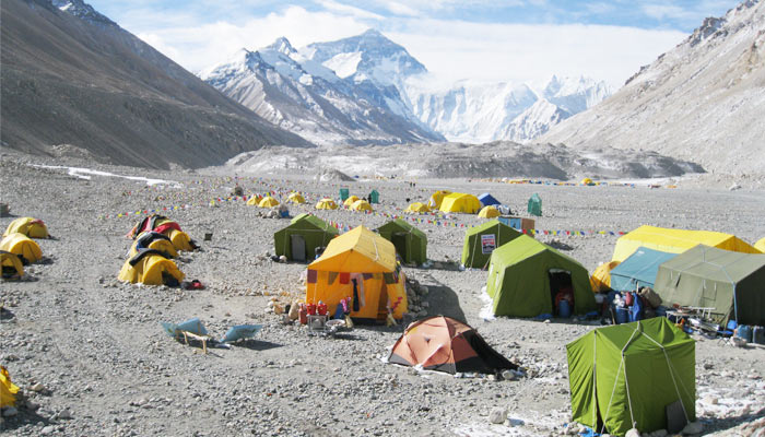 Camping in Mt. Everest