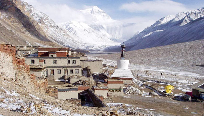 Rongbuk Monastery is the highest monastery