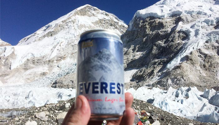 Tourists could even buy beer in EBC Nepal
