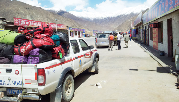 Road condition at Zhaxizong village near EBC