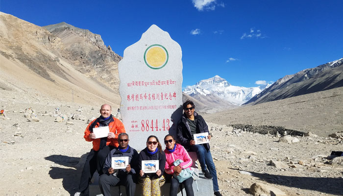 Everest Base Camp in Tibetan Side