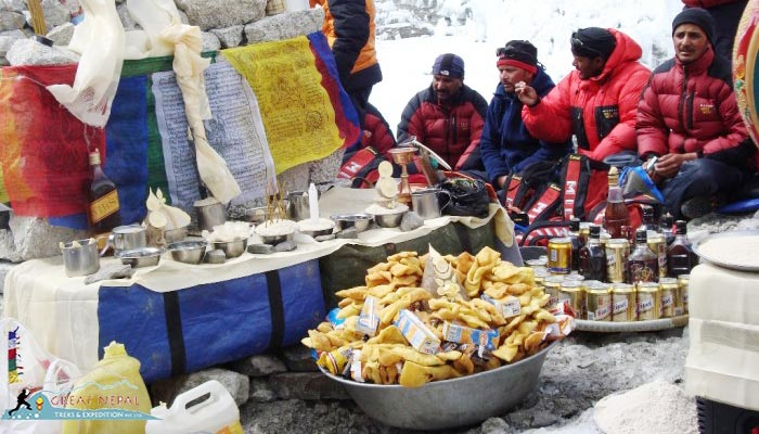 Tourists could prepare food for themselves at EBC