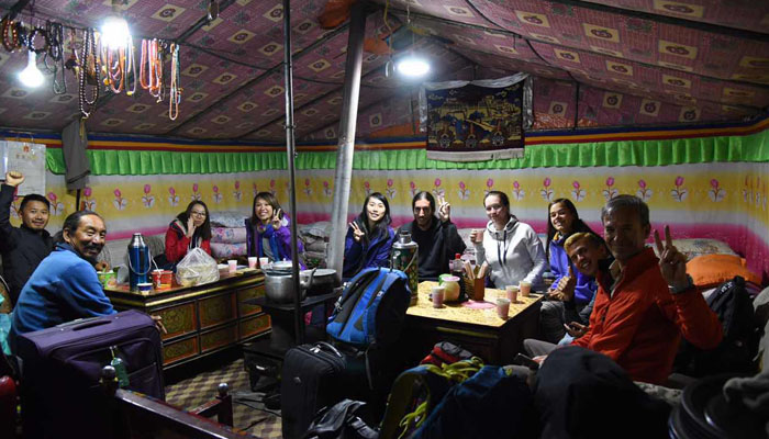 You can spend a night at tent guesthouses in Everest Base Camp Tibetan Side