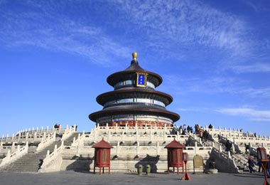 Temple of Heaven is the place where the emperors worshipped the heaven for good harvests.