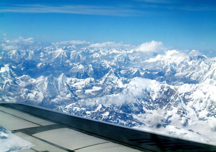 Flying over Himalaya, which one is Everest?