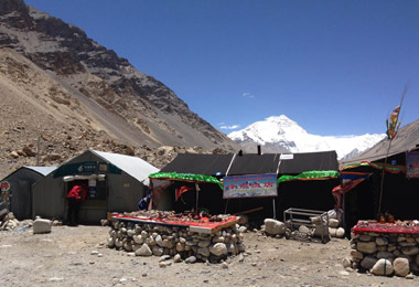 There are tent restaurants and a post office in Everest Base Camp.
