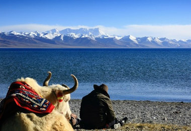 Lake Namtso is one of the four holy lakes of Tibet and the highest salt lake.
