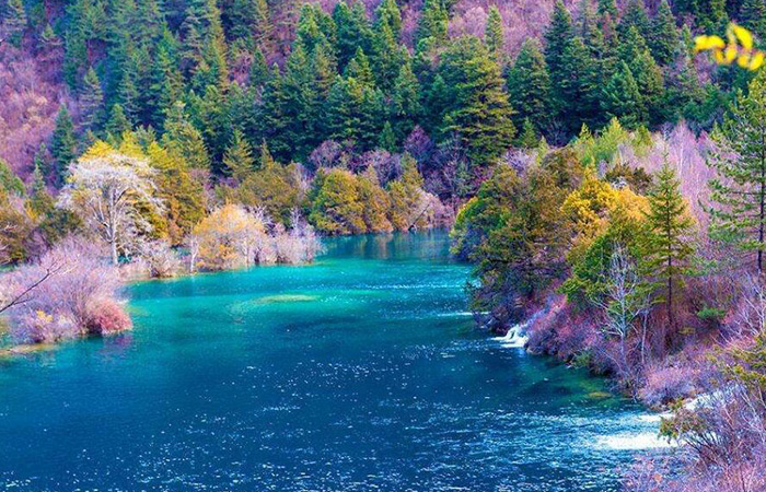 Jiuzhaigou Valley is famous for its diverse natural beauty