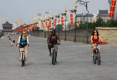 You can cycle on the Ancient Great Wall.
