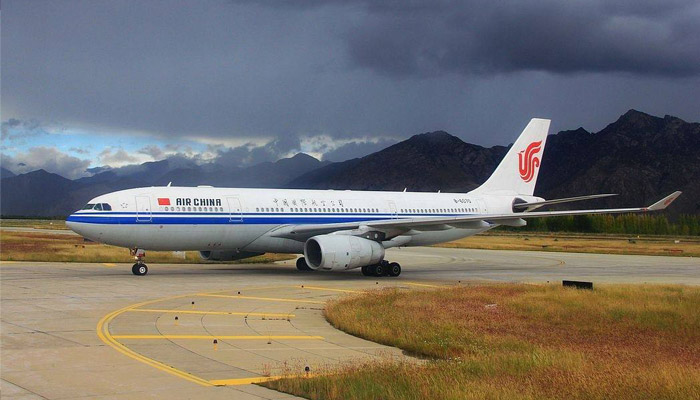 Air China is another scheduled airline to Tibet from Nepal