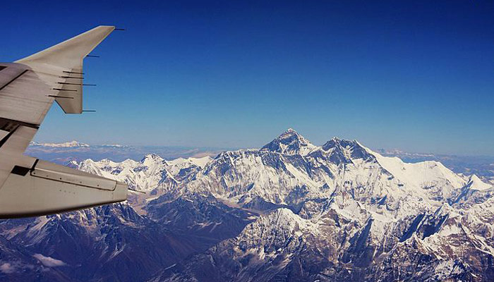 The view of the Himalayas is absolutely stunning
