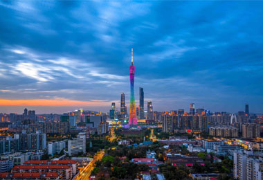 Canton Tower is the landmark building of Guangzhou