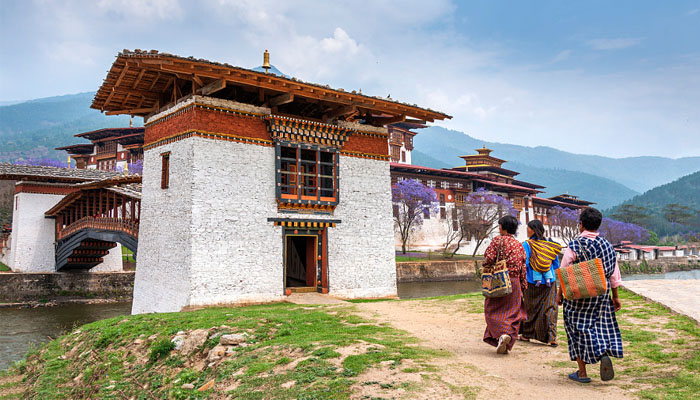 Punakha Dzong is the most beautiful Dzong in Bhutan