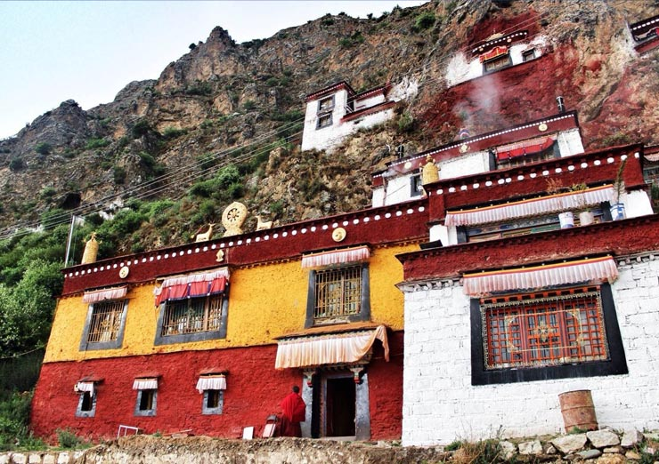 Drak Yerpa is one of the holiest sites in Tibetan Buddhism.
