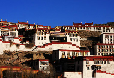 "Ganden Monastery  is one of the ""Three Great "" Gelugpa monasteries in Tibet."
