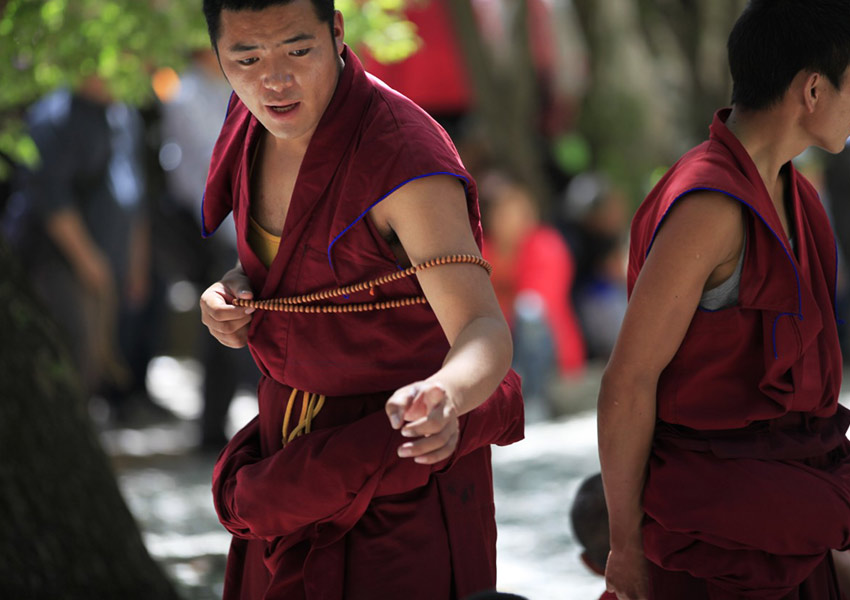 The highlight of Sera Monastery is its dramatic monk debate.