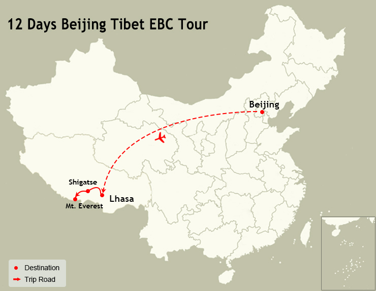 12 Days Beijing Tibet EBC Tour