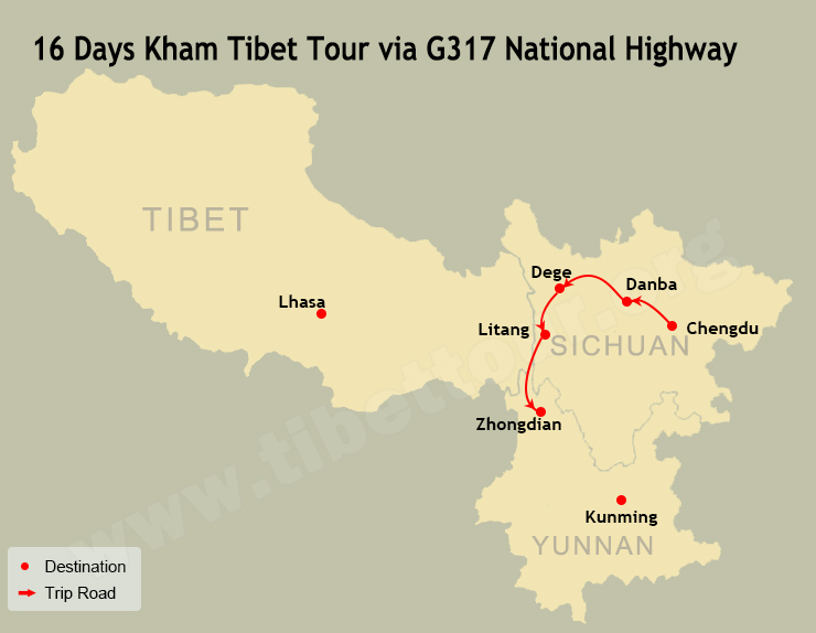 16 Days Kham Tibet Tour via G317 National Highway