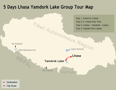 5 Days Lhasa and Yamdrok Lake Small Group Tour
