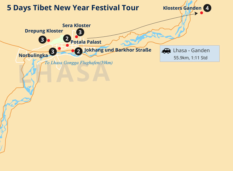 5 Days Tibet New Year Festival Tour