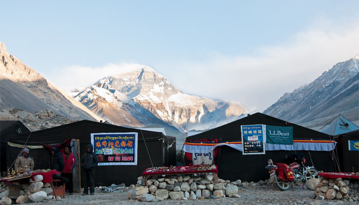 Yak hair tent guesthouse at Everest Base Camp